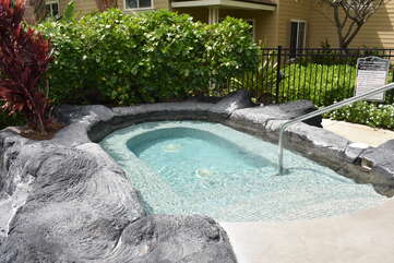 Hot Tub with Hand Rail and Stairs for Easy Access