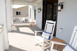 First floor porch by front door