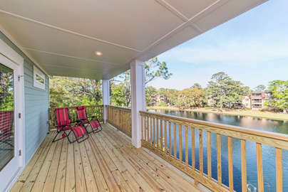Your very own covered deck off of the master bedroom