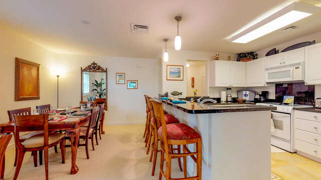 Kitchen and Dining Area in our Ko Olina Kai Rental