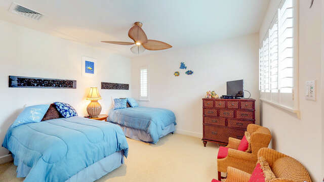 Third Bedroom with Twin Beds Perfect for Children