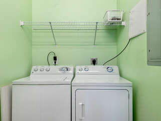 Washer and dryer on the main level