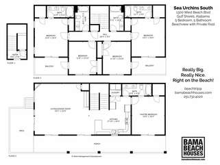 Sea Urchins South Floor Plan. Sea Urchins North is a mirror image.