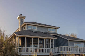 Wonderful screened porch and deck with tranquil ocean views