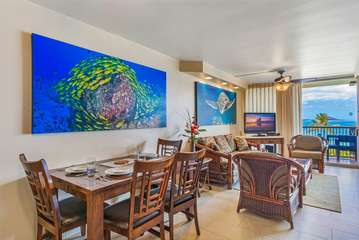 Living and dining area with incredible view