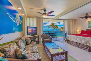 Living room and master bedroom with wonderful view