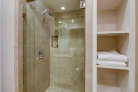 Shower in master bedroom en suite.