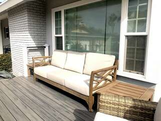 Newly added front deck with peek-a-boo view of the ocean and amazing sunsets.