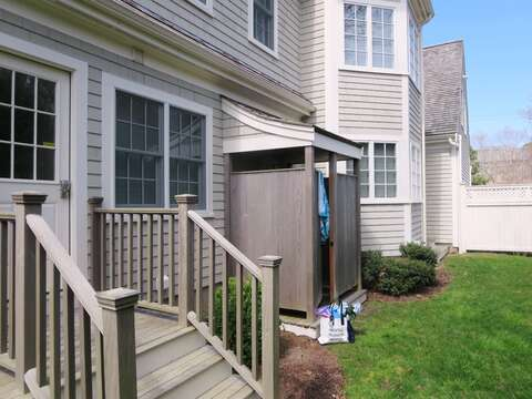 Side entry- easy access to outdoor shower-161 Bay Lane Centerville Cape Cod - New England Vacation Rentals