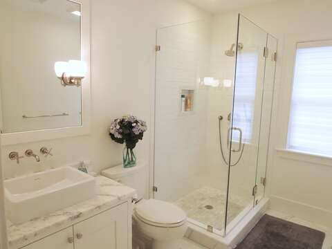 Bathroom 4 in hall on 2nd floor with shower-161 Bay Lane Centerville Cape Cod - New England Vacation Rentals