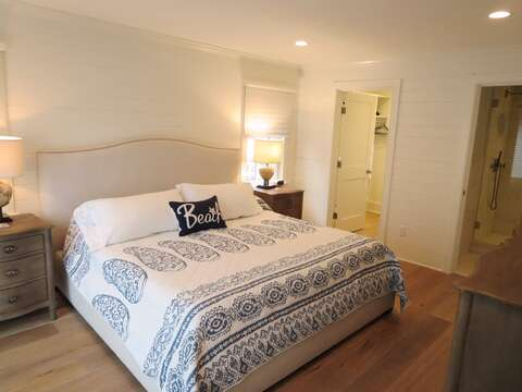 Master bedroom offers King size bed -walk in closet and en suite bath-161 Bay Lane Centerville Cape Cod - New England Vacation Rentals