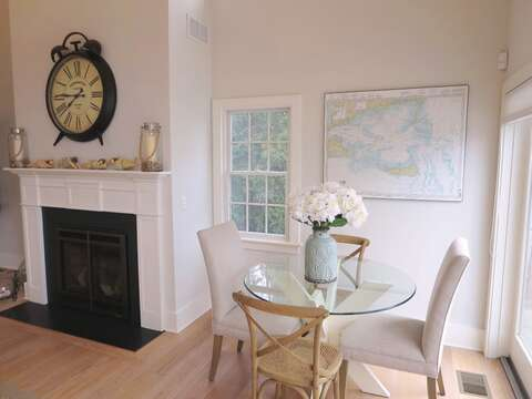 Game table in Living area-Checkers anyone? 161 Bay Lane Centerville Cape Cod - New England Vacation Rentals