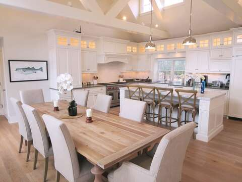 Plenty of seating- large dining table-161 Bay Lane Centerville Cape Cod - New England Vacation Rentals