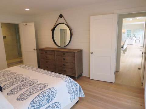 Exit the door and find the stair to you left to take you up to the office-161 Bay Lane Centerville Cape Cod - New England Vacation Rentals