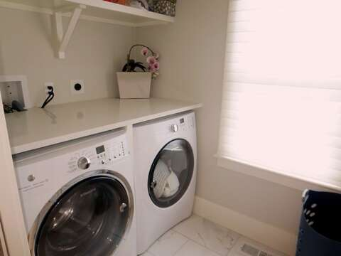 Laundry room off hall on 1st floor-161 Bay Lane Centerville Cape Cod - New England Vacation Rentals