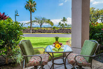 Lanai perfect for morning coffee!