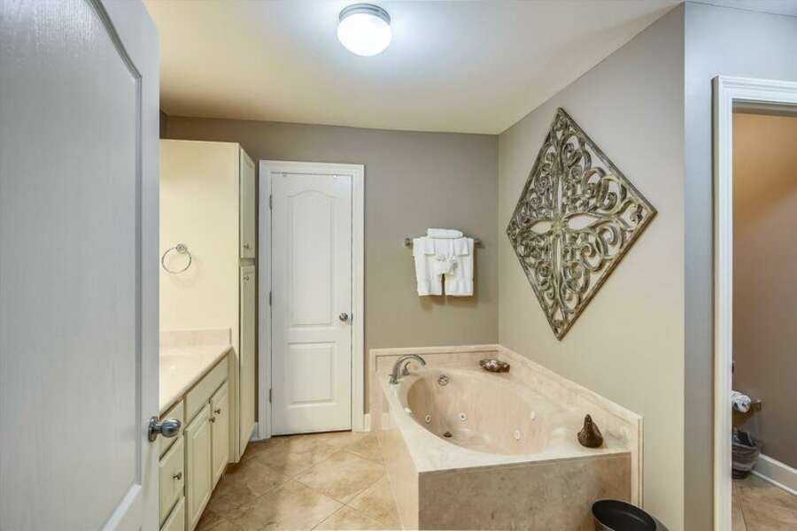 Private Master Bath with Jetted Tub and separate Shower.