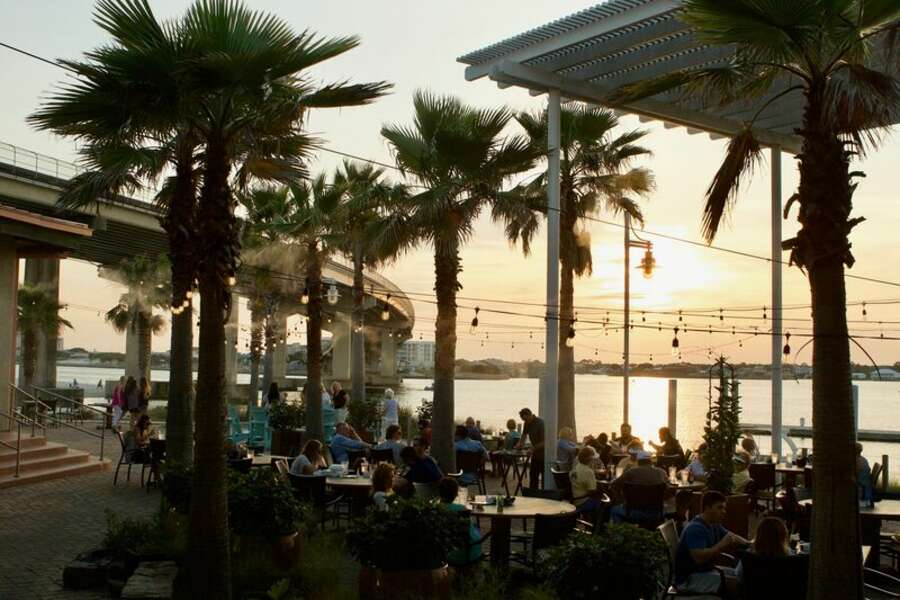 Outdoor Seating at Cobalt the Restaurant, perfect for watching the Sunset