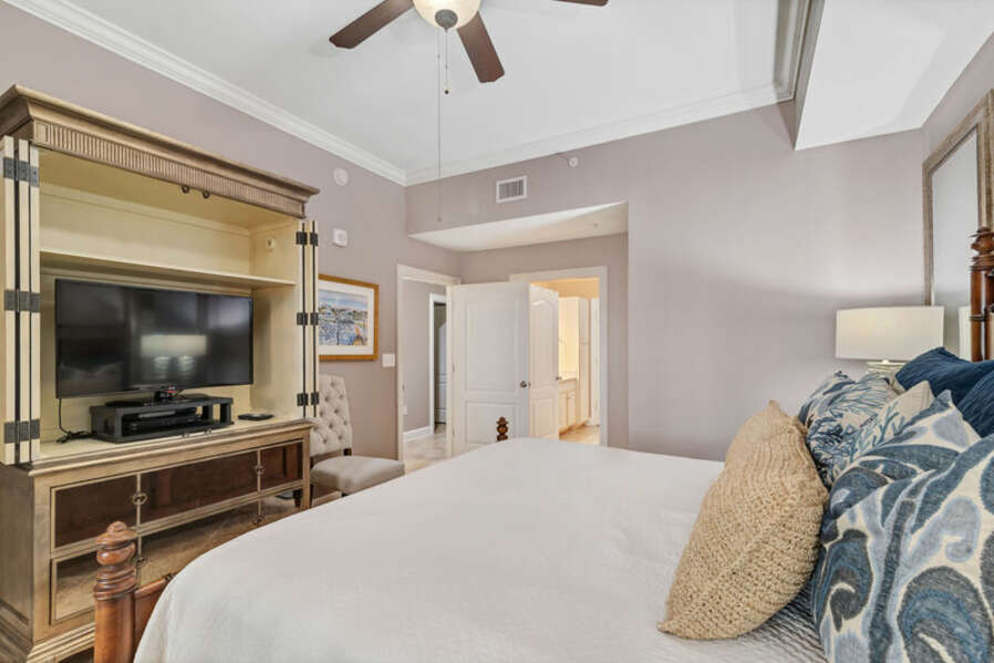 Luxurious Master Suite has a King Size Bed and Private Master Bath