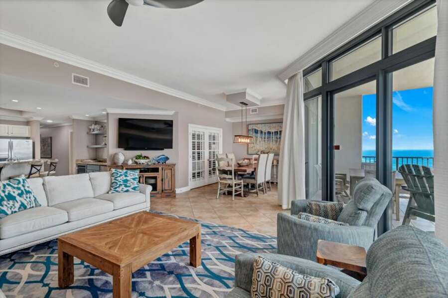 The Luxurious floor plan offers At-Home Comfort with a Great Beach View!