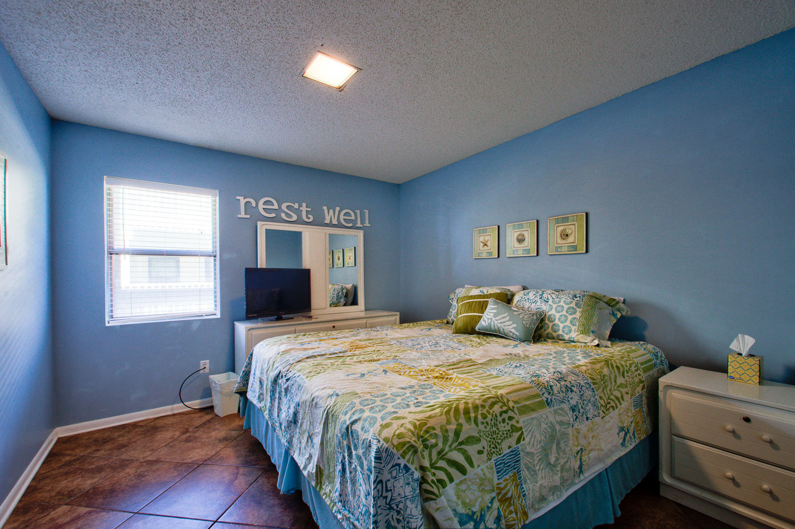 Bedroom #1 in our Gulf Shores, AL Vacation Condo Has a King Bed