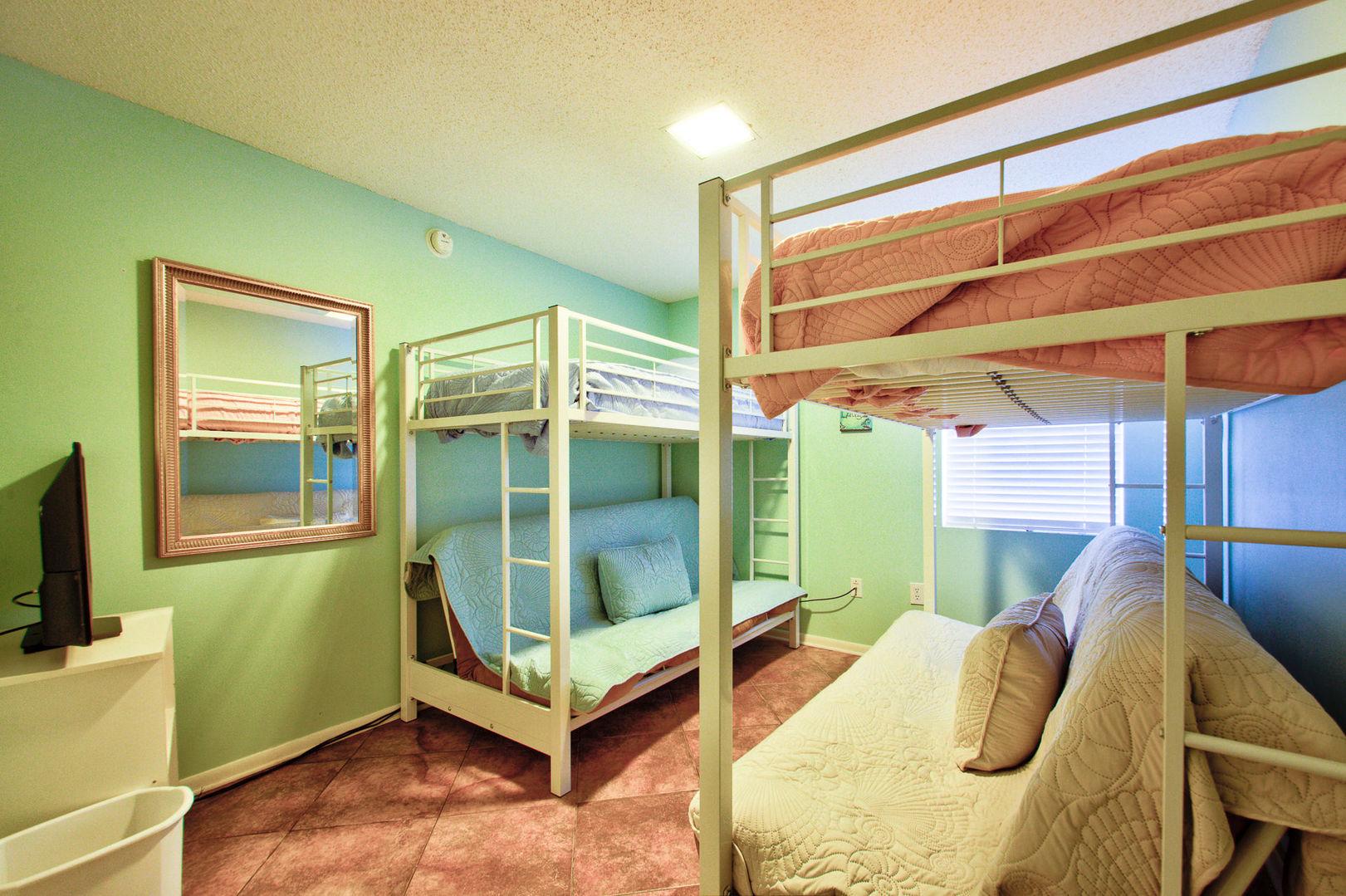 Bedroom #2 Features Two Bunk Beds