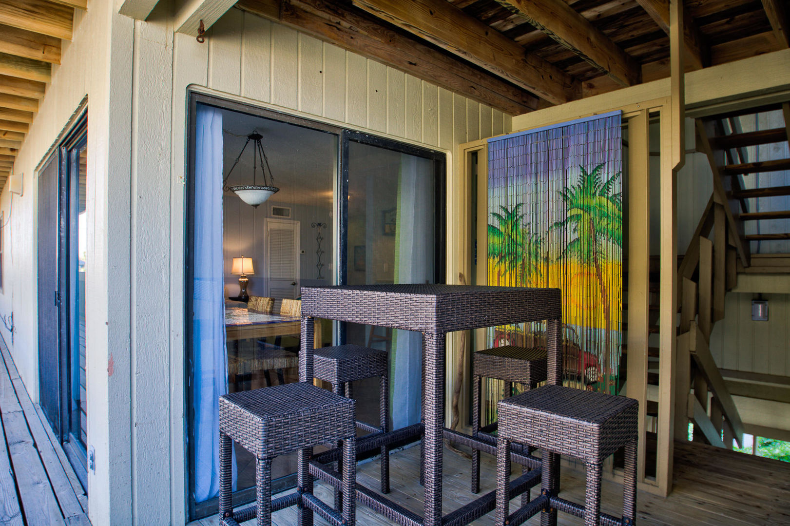 Covered Patio with Outdoor Seating in our Gulf Shores, AL Vacation Condo