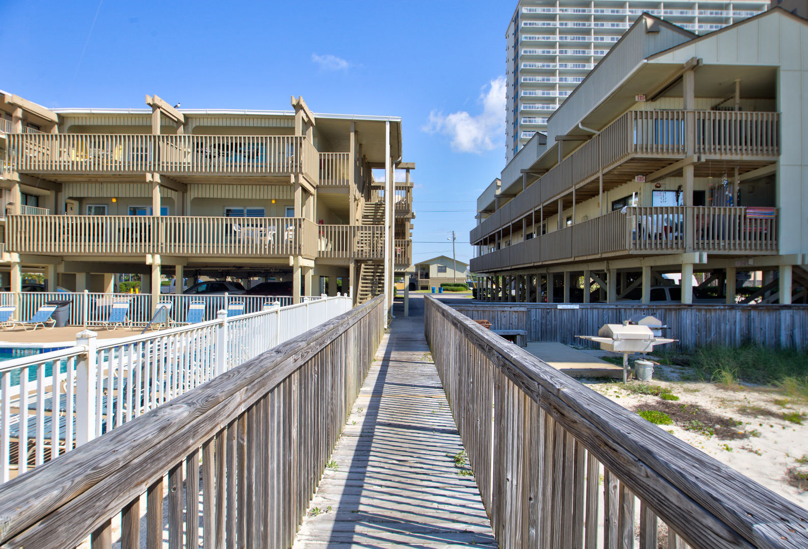 Walkway to and from the Beach at Gulf Village