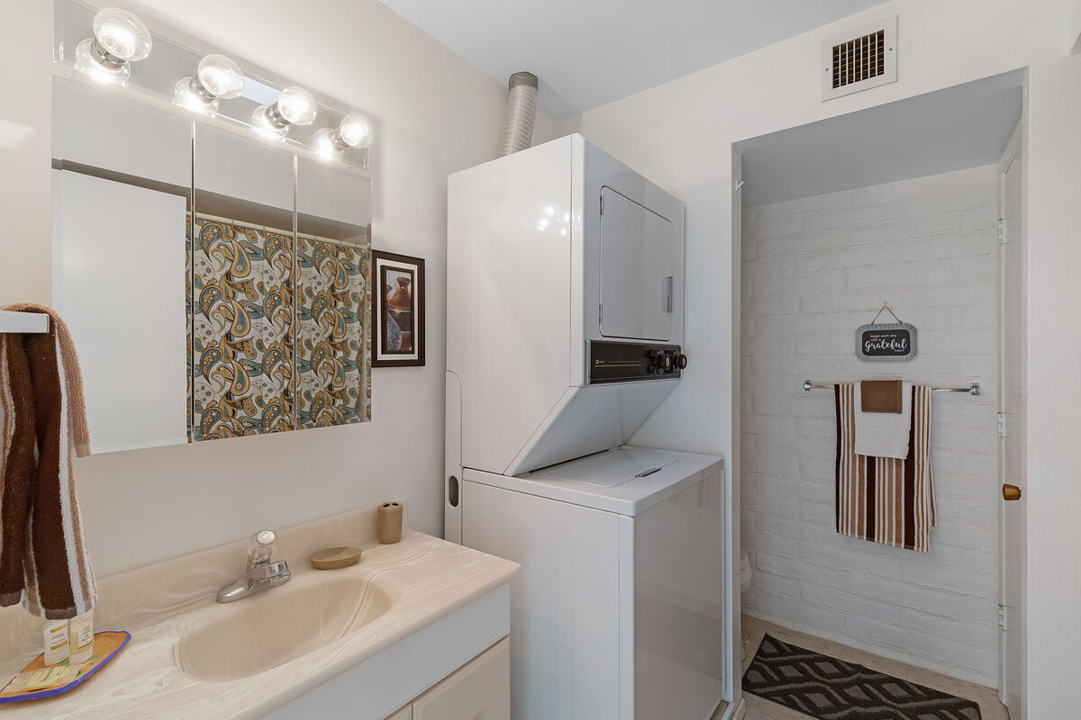 Upstairs Bathroom, Also Houses Washer and Dryer