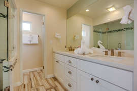 MASTER BATH WITH DOUBLE SINK AND CUSTOM PRIVATE BIDET