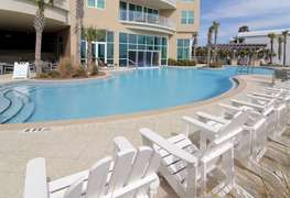 Beach side and pool side seating
