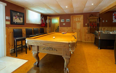 Games room, Three Mile Lake