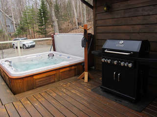 Hot tub, Three Mile Lake