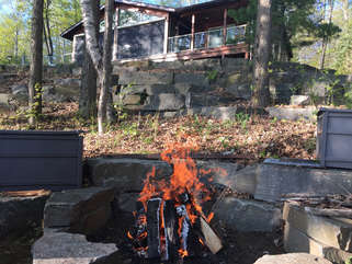 Fire pit, Three Mile Lake