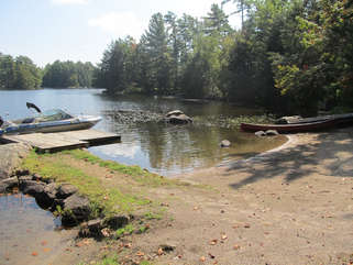 Shoreline with dock Long