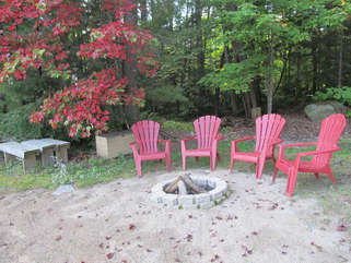 Fire pit with chairs Long