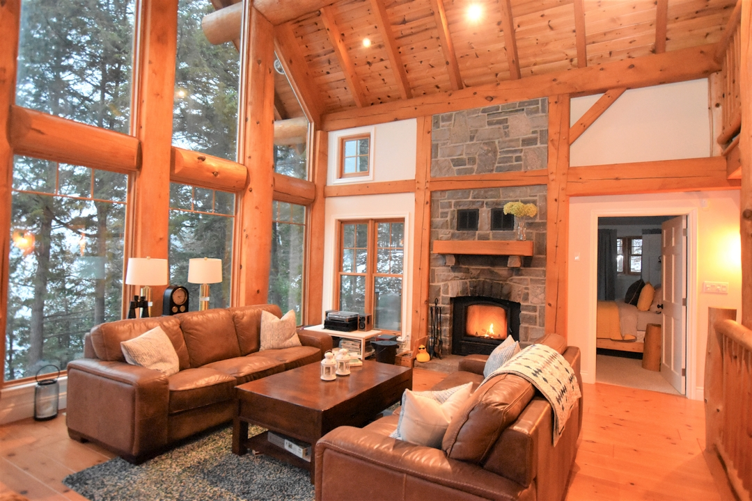 Living Area with vaulted ceiling, Fairy Lake, Huntsville, Ontario