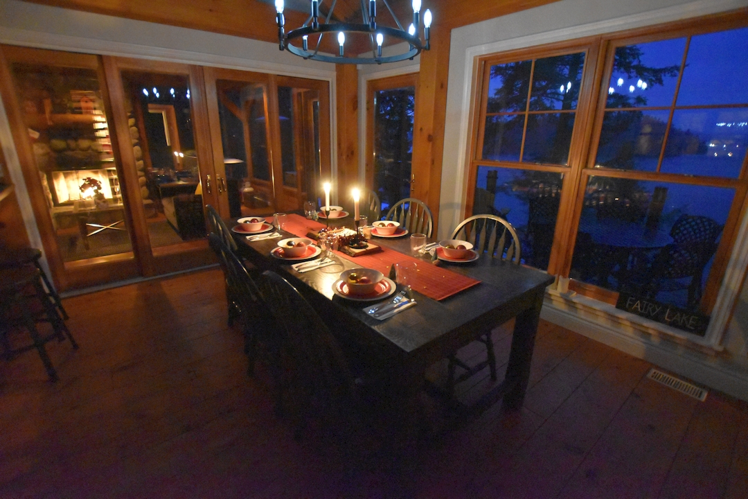 Christmas dinner at the cottage, Fairy Lake, Ontario