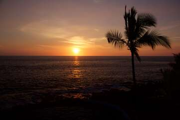 Perfect Kona Sunset seen from the unit