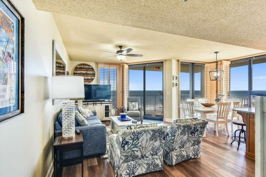 Spacious Living and Dining Areas have Balcony Access and Gorgeous Views