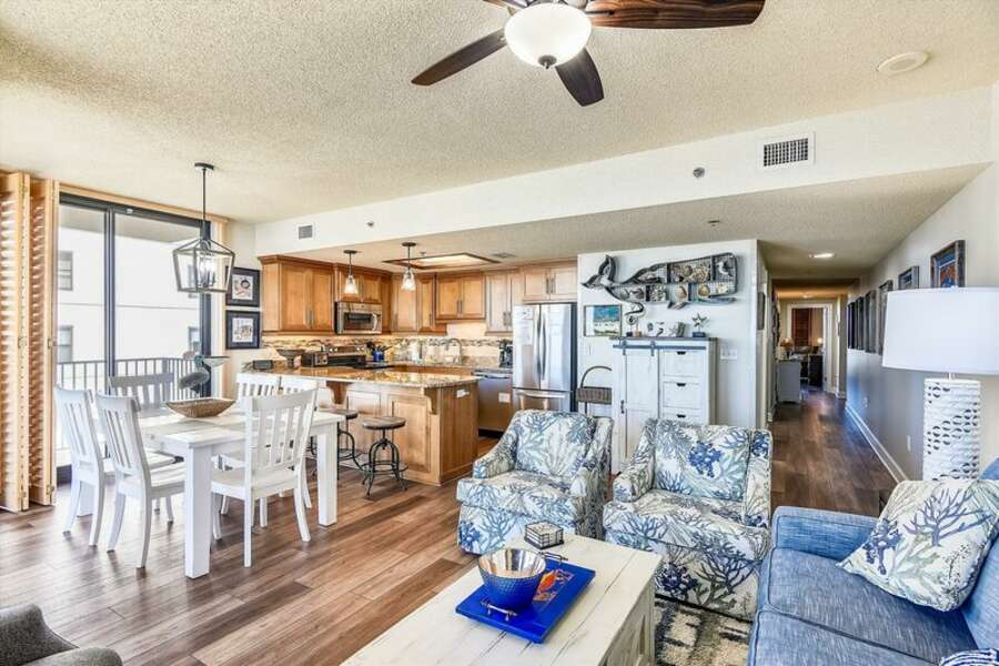You'll feel right at home in this beautifully decorated 3 bedroom | 2 bath beach front condo