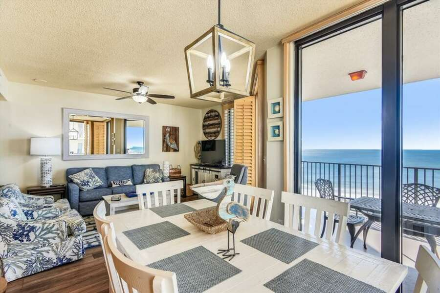 Spacious Living and Dining Areas with Beautiful Water Views