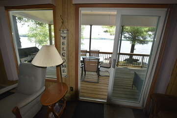 Entrance to Living room from deck