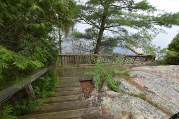 Stairs to cottage