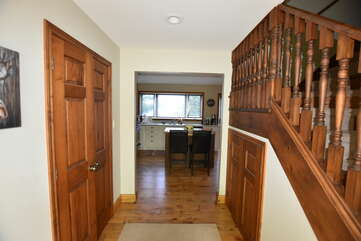 Hallway to kitchen and living room