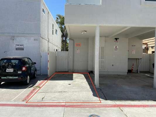 North alleyway carport parking spot.