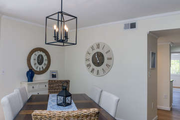 The dining area is perfect for family meals!