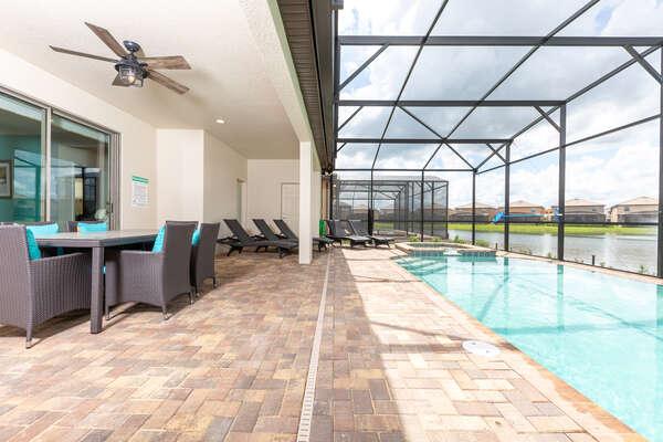 Lounge poolside and take in the beautiful Florida sun