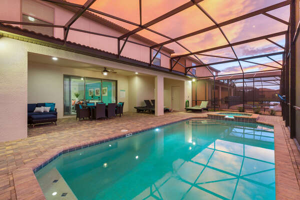 Enjoy your private pool at any hour of the day