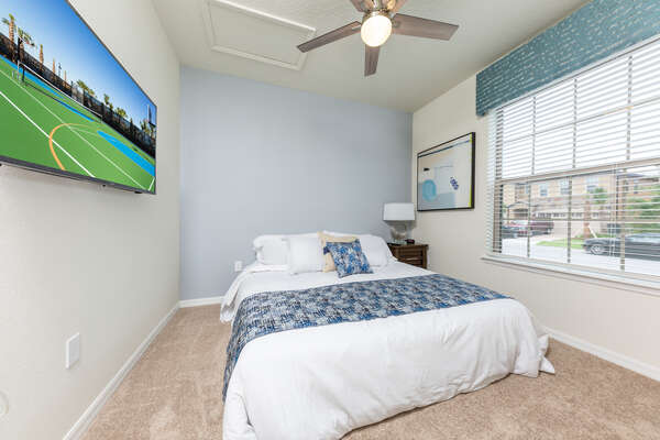 After a long day at the parks, come home and relax in this downstairs king bedroom